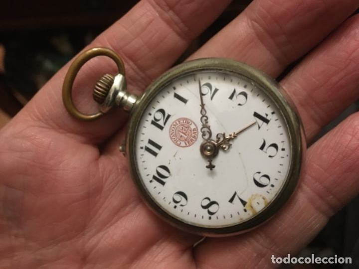Relojes de bolsillo: Reloj centenario de bolsillo - Cronómetro 1a verdad - de la década de los años 20 - Foto 5 - 181138510