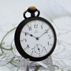 Relojes de bolsillo: OMEGA-RELOJ DE BOLSILLO-CIRCA 1900-FUNCIONANDO. Lote 181139321