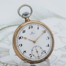 Relojes de bolsillo: OMEGA-PRECIOSO RELOJ DE BOLSILLO DE PLATA-3 TAPAS-CIRCA 1923-FUNCIONANDO. Lote 181221616