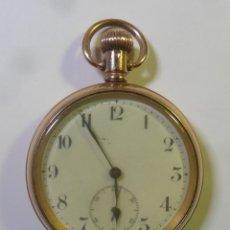 Relojes de bolsillo: RELOJ DE BOLSILLO CHAPADO EN ORO – PARA REPARAR O PIEZAS. Lote 181396117