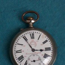 Relojes de bolsillo: RELOJ DE BOLSILLO MARCA ROSKOPF NIETO CRONÓMETRO ORIGINAL. FUNCIONANDO.. Lote 181422715