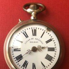 Relojes de bolsillo: ANTIGUO RELOJ DE BOLSILLO, DE LUCAS DE ABASOLO. COURVOISIER FRERES PATENT. Lote 181487042
