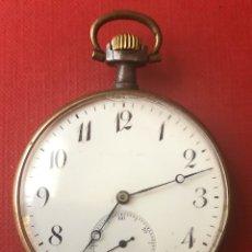 Relojes de bolsillo: ANTIGUO RELOJ DE BOLSILLO EN METAL PAVONADO, Y METAL DORADO. MEDIADOS S.XIX. Lote 181490062