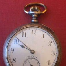 Relojes de bolsillo: EXCELENTE RELOJ DE BOLSILLO DE PLATA WALTHAM.. Lote 181496842