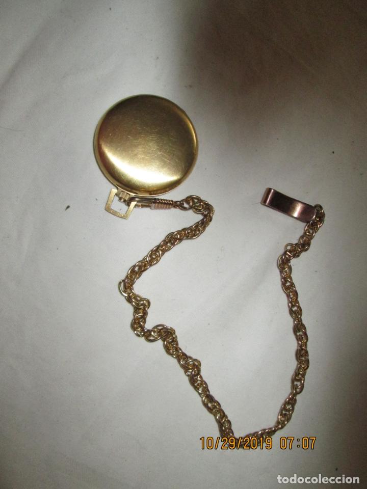 Relojes de bolsillo: RELOJ DE BOLSILLO THERMIDOR PARÍS - CON CADENA - FUNCIONANDO. - Foto 2 - 181524317