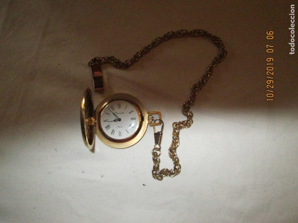 Relojes de bolsillo: RELOJ DE BOLSILLO THERMIDOR PARÍS - CON CADENA - FUNCIONANDO. - Foto 4 - 181524317