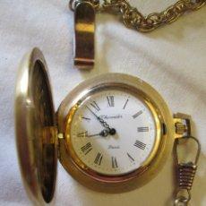Relojes de bolsillo: RELOJ DE BOLSILLO THERMIDOR PARÍS - CON CADENA - FUNCIONANDO.. Lote 181524317