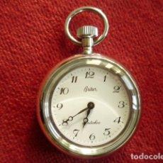 Relojes de bolsillo: RELOJ DE BOLSILLO BRITER PLATEADO DE CUERDA MANUAL - SIN ESTRENAR, FUNCIONANDO. Lote 181556262