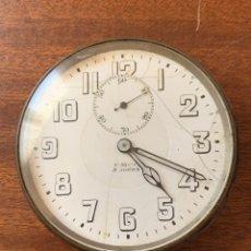 Relojes de bolsillo: ANTIGUO RELOJ DE BOLSILLO 8 DÍAS CUERDA, DE GRAN TAMAÑO. Lote 181560520