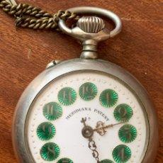 Relojes de bolsillo: MAGNÍFICO RELOJ DE BOLSILLO DE COLECCIÓN MERIDIANA PATENT, CON CADENA.. Lote 181561028