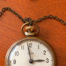Relojes de bolsillo: ANTIGUO RELOJ DE BOLSILLO DE COLECCIÓN SMITH CON CADENA, FUNCIONA PERFECTAMENTE. Lote 181562922