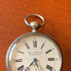 Relojes de bolsillo: MAGNÍFICO RELOJ DE BOLSILLO HOAS DE PRIVAT. CHAUX DE FONDS. FUNCIONA PERFECTAMENTE, GRAN TAMAÑO. Lote 181563747