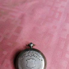 Relojes de bolsillo: RELOJ DE BOLSILLO DE PLATA. Lote 181566292