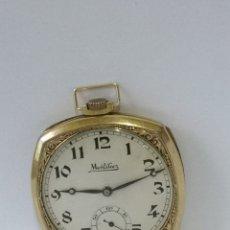 Relojes de bolsillo: ANTIGUO RELOJ DE BOLSILLO MONTILIER EN PLAQUE ORO 18K. Lote 181658101