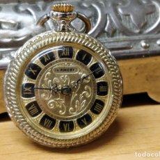 Relojes de bolsillo: PEQUEÑO RELOJ DE BOLSILLO - TRASERA PLATEADA - FUNCIONANDO, 2,4 CM. DIAMETRO SIN CORONA MARCA LANCEL. Lote 41339854