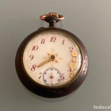 Relojes de bolsillo: ANTIGUO RELOJ DE BOLSILLO , ACERO PAVONADO , NO FUNCIONA . Lote 181736487