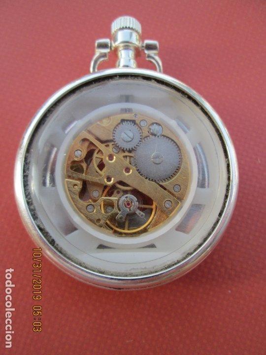 Relojes de bolsillo: RELOJ DE BOLSILLO PLATEADO - FUNCIONANDO. - Foto 2 - 181768151