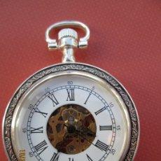 Relojes de bolsillo: RELOJ DE BOLSILLO PLATEADO - FUNCIONANDO.. Lote 181768151