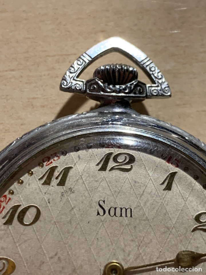Relojes de bolsillo: Antiguo reloj de bolsillo, art-decó, Sam - Foto 2 - 181769162