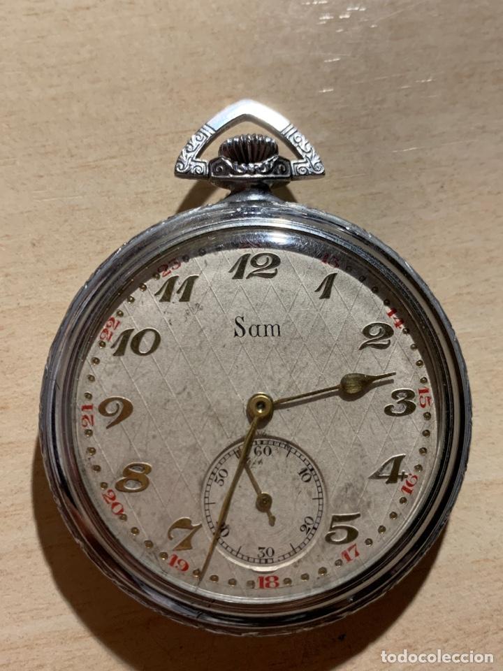 ANTIGUO RELOJ DE BOLSILLO, ART-DECÓ, SAM (Relojes - Bolsillo Carga Manual)