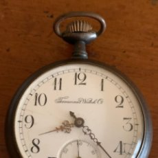 Relojes de bolsillo: ANTIGUO RELOJ DE BOLSILLO EN METAL PAVONADO TAVANNES WATCH. Lote 181997680