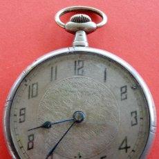 Relojes de bolsillo: RELOJ DE BOLSILLO ANTIGUO DE PLATA, CARGA MANUAL. ESTADO DE MARCHA. 4,65 CMS DE DIÁMETRO. . Lote 182004340