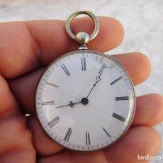 Relojes de bolsillo: RELOJ DE BOLSILLO DE PLATA FRANCES AÑO 1880 APROX.. Lote 182010258