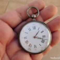 Relojes de bolsillo: RELOJ DE BOLSILLO FRANCES DE PLATA AÑO 1880 APROX.. Lote 182102926