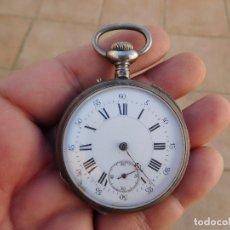 Relojes de bolsillo: RELOJ DE BOLSILLO DE PLATA AÑO 1890 APROX.. Lote 182104998