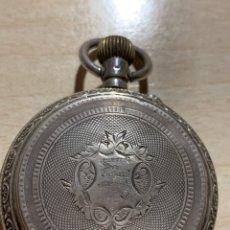 Relojes de bolsillo: ANTIGUO RELOJ DE BOLSILLO DE PLATA 3 TAPAS. Lote 182168042