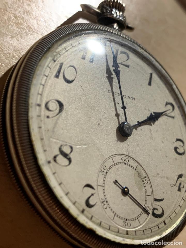 Relojes de bolsillo: Antiguo reloj de bolsillo de plata Art- Decó Duncan - Foto 2 - 182168792