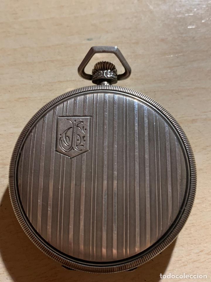 Relojes de bolsillo: Antiguo reloj de bolsillo de plata Art- Decó Duncan - Foto 3 - 182168792