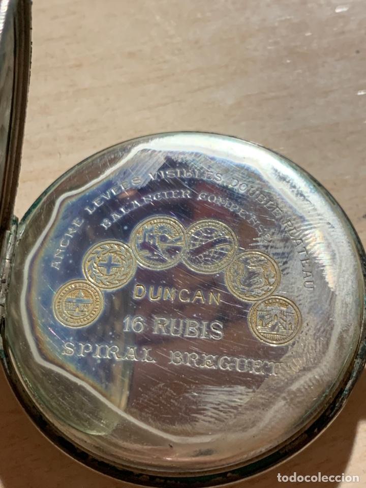 Relojes de bolsillo: Antiguo reloj de bolsillo de plata Art- Decó Duncan - Foto 4 - 182168792