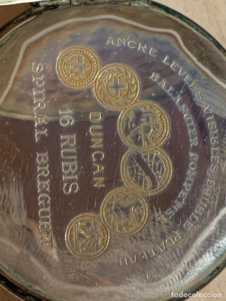 Relojes de bolsillo: Antiguo reloj de bolsillo de plata Art- Decó Duncan - Foto 5 - 182168792