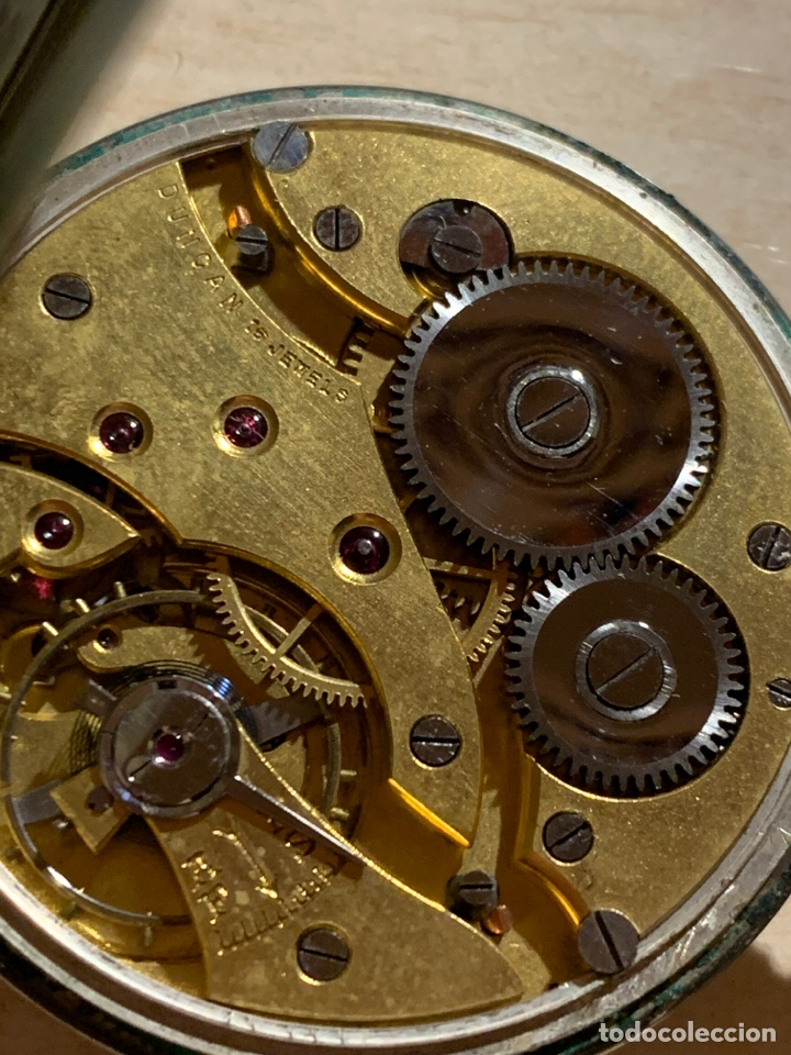 Relojes de bolsillo: Antiguo reloj de bolsillo de plata Art- Decó Duncan - Foto 6 - 182168792