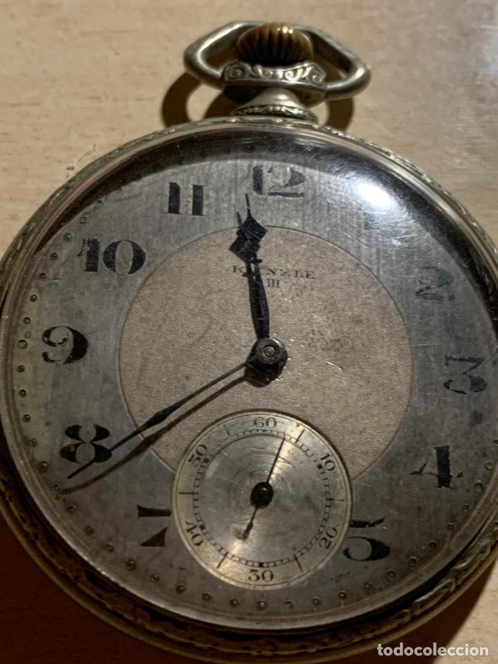 Relojes de bolsillo: Antiguo reloj de bolsillo Art-Decó Kienze - Foto 2 - 182169735