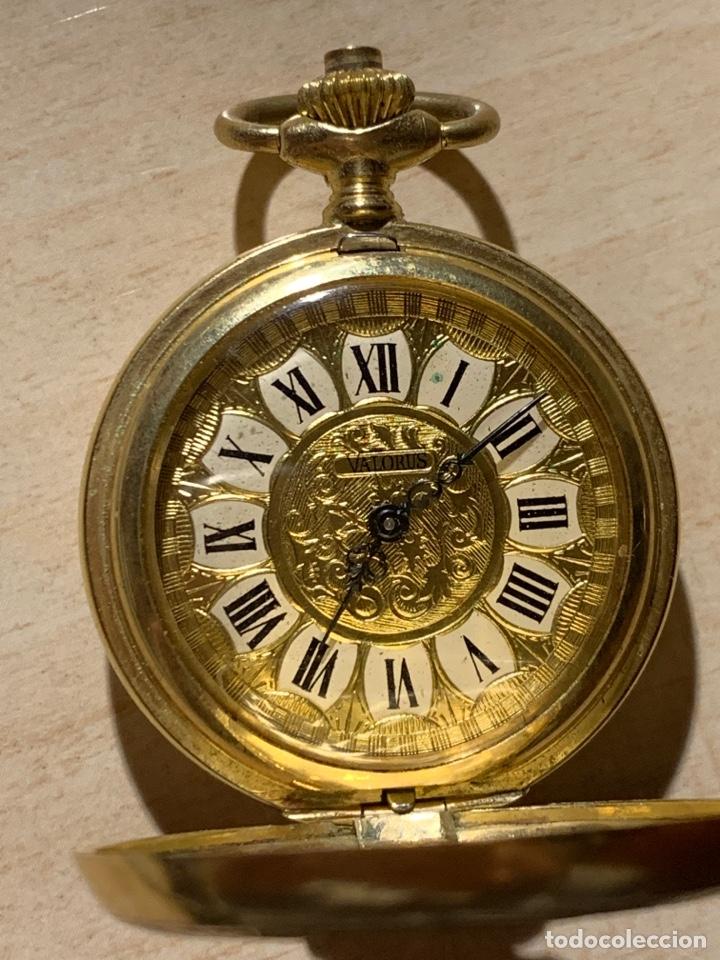Relojes de bolsillo: Bonito reloj de bolsillo de señora de 3 tapas. Funciona - Foto 2 - 182290752