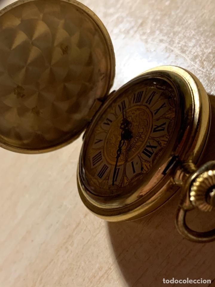 Relojes de bolsillo: Bonito reloj de bolsillo de señora de 3 tapas. Funciona - Foto 3 - 182290752