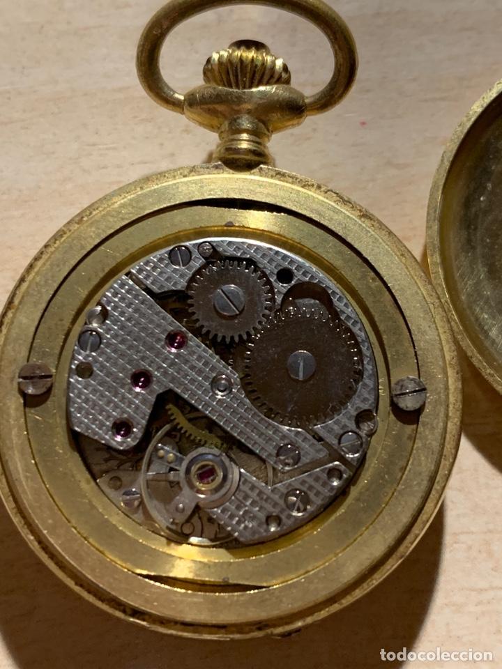 Relojes de bolsillo: Bonito reloj de bolsillo de señora de 3 tapas. Funciona - Foto 5 - 182290752