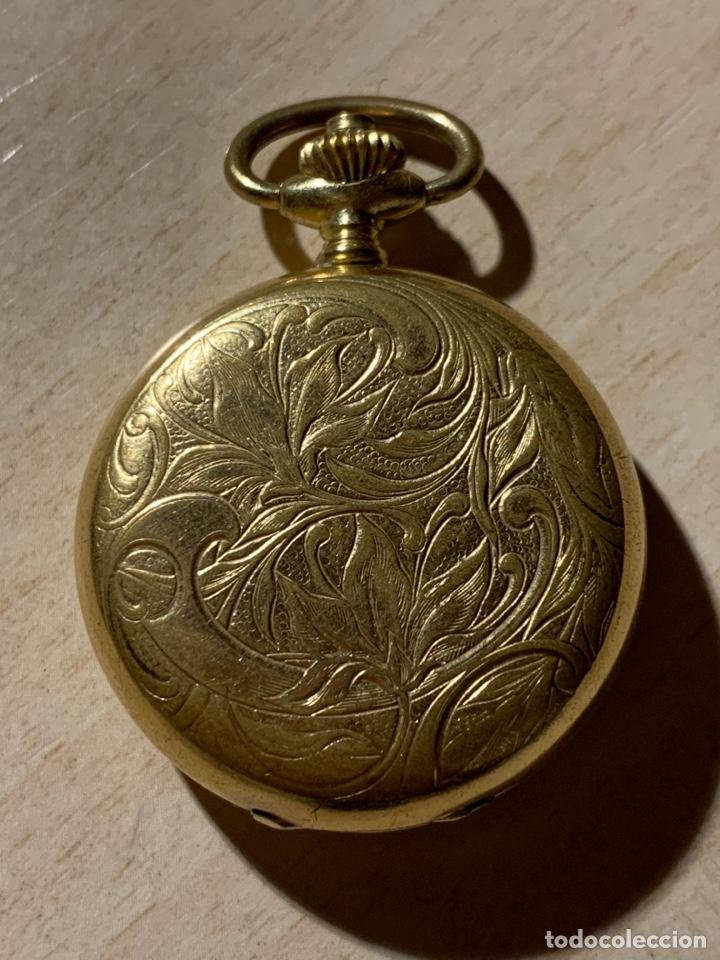 BONITO RELOJ DE BOLSILLO DE SEÑORA DE 3 TAPAS. FUNCIONA (Relojes - Bolsillo Carga Manual)