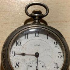 Relojes de bolsillo: ANTIGUO RELOJ DE BOLSILLO DE PLATA INVAN. Lote 182291310