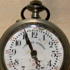 Relojes de bolsillo: ANTIGUO RELOJ DE BOLSILLO CATALÁN PATENT. Lote 182292585
