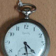 Relojes de bolsillo: RELOJ ZENITH BOLSILLO DE PLATA 0800 GRAND PRIX PARIS 1900 ANCRE 15 RUBIS. . Lote 182322735