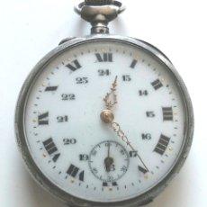 Relojes de bolsillo: RELOJ BOLSILLO, 3 TAPAS, FUNCIONA. MED. 45 MM SIN CONTAR TIJA CORONA. Lote 182509673