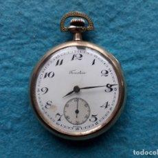 Relojes de bolsillo: RELOJ DE BOLSILLO MARCA FORESTEIA. CHAPADO EN ORO. FUNCIONANDO.. Lote 182563033
