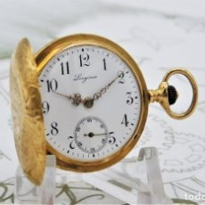 Relojes de bolsillo: LONGINES-CON 3 TAPAS DE ORO 18K-FANTÁSTICO RELOJ DE BOLSILLO-SUIZO-CIRCA 1901-FUNCIONANDO. Lote 182637231