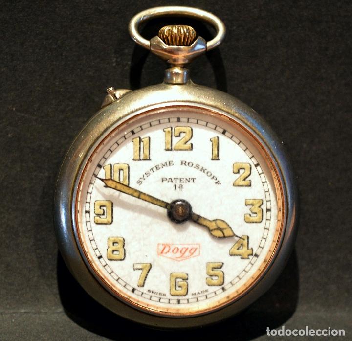 Relojes de bolsillo: RELOJ DE BOLSILLO CARGA MANUAL SUIZO MARCA DOGG SISTEMA ROSKOPF FUNCIONANDO SWISS MADE - Foto 2 - 108353299