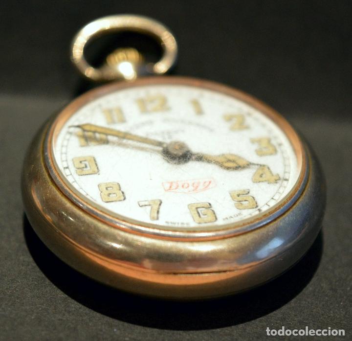 Relojes de bolsillo: RELOJ DE BOLSILLO CARGA MANUAL SUIZO MARCA DOGG SISTEMA ROSKOPF FUNCIONANDO SWISS MADE - Foto 6 - 108353299