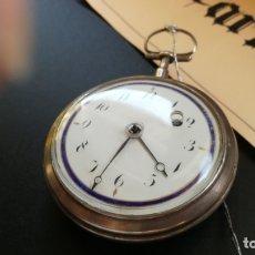 Relojes de bolsillo: ANTIGUISIMO Y GRAN RELOJ DE BOLSILLO DE RUEDA DE CATALINA, GRANDE Y GRUESO, CREO QUE ES DE PLATA. Lote 182733467