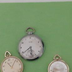 Relojes de bolsillo: LOTE DE 3 RELOJES DE BOLSILLO CARGA MANUAL. Lote 182736472
